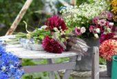 Making summer bouquet