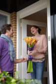 Man delivers flowers