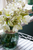 Hippeastrum and Chamelaucium bouquet