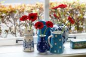 Gerbera in vases