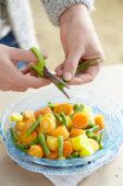 Gekookte wortels en bonen