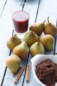 Ingredients for stewed pears