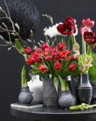 Flowers and wax bulbs