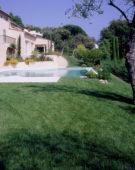 Mediterranean lawn garden