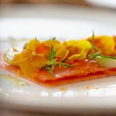 Smoked salmon dish