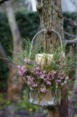 Heather candle holder