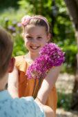 Children with Allium Purple Sensation