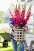 Gladiolus and Dahlia bouquet