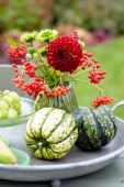 Decorative fruits and flowers