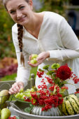 Decoratief fruit en bloemen