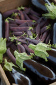 Brinjals and peas