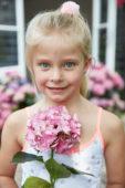 Girl with Hydrangea