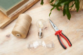 Necessities to make a light bulb vase