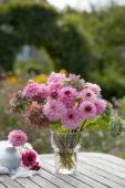 Zomerboeket in roze