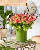 Boeket Tulipa Lingerie, Viburnum opulus Roseum