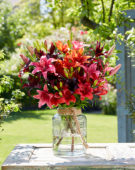 Mixed lily bouquet