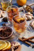 Ginger, cinnamon and orange tea