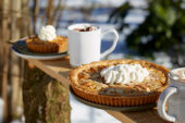 Apple pie and hot chocolate