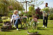 Couple enjoying the garden