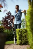 Man with pruning shears