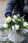 Making winter arrangement