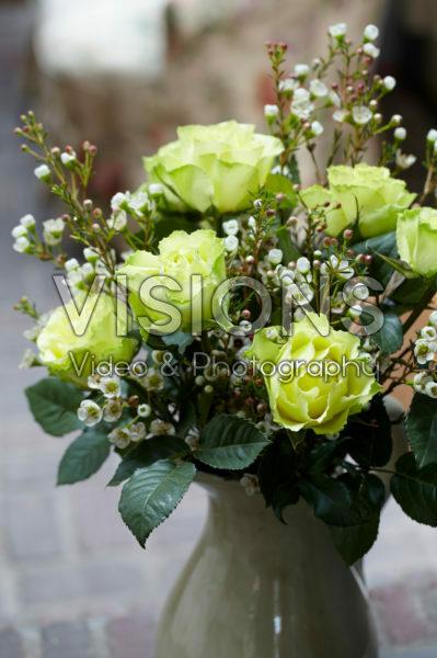 Rosa and Chamelaucium bouquet