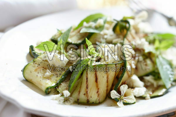 Grilled courgette