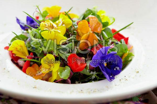 Herb-flowers salad