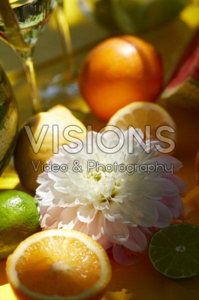 Dahlia and fruit