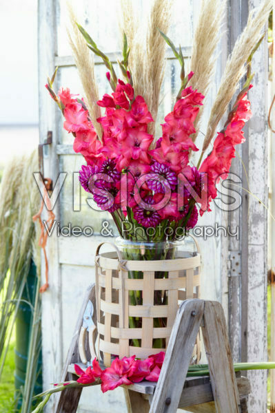 Gladiolus en Dahlia boeket