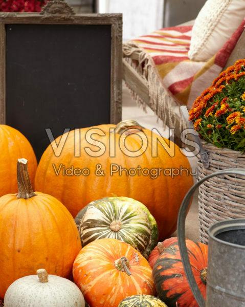 Pumpkin autumn scene