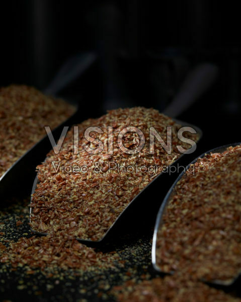 Broken flax seeds