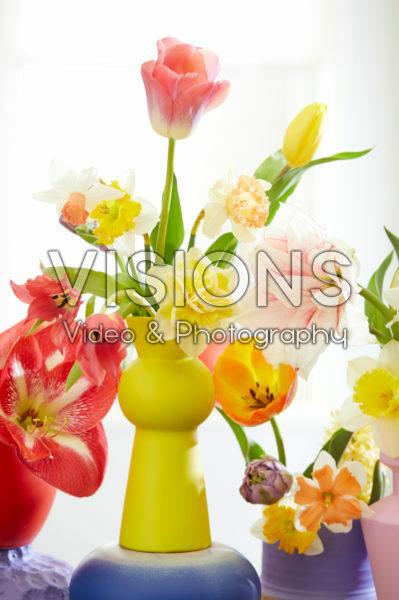 Gemengde bloemen in vaas