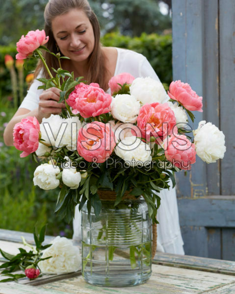 Paeonia bridal bouquet mix
