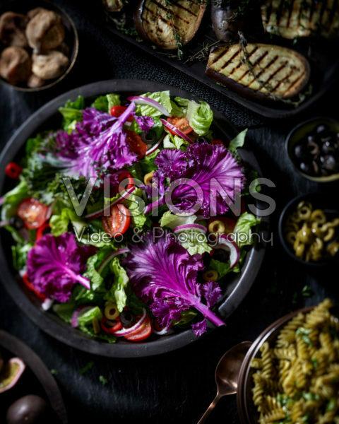 Brassica Rainbow Candy Crush, edible ornamental cabbage