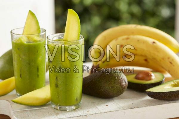 Smoothie mango, avocado and banana