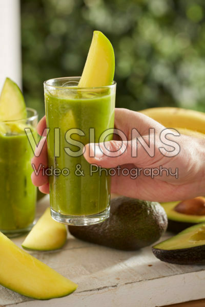 Smoothie mango, avocado, appel en banaan