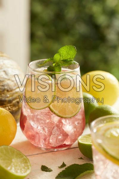 Gin-tonic met watermeloen