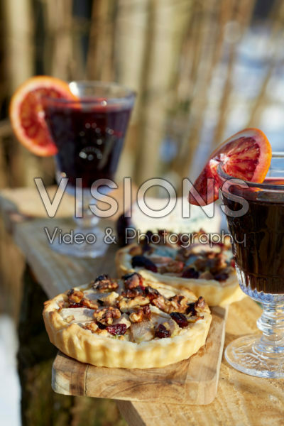 Kaastaartjes met peer en noten
