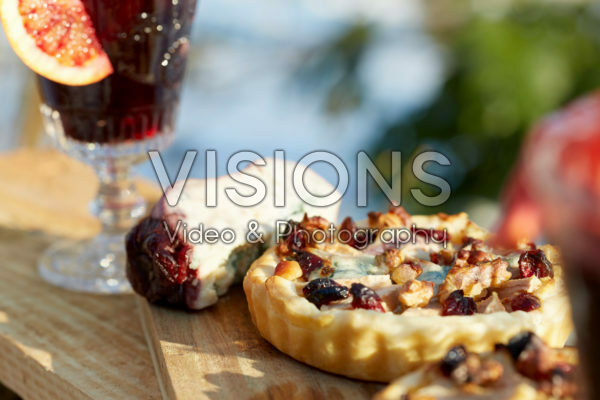 Pear and cheese tartlets