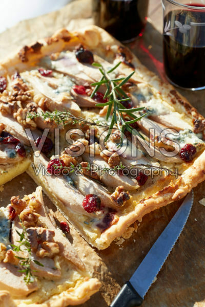 Pear and cheese tart