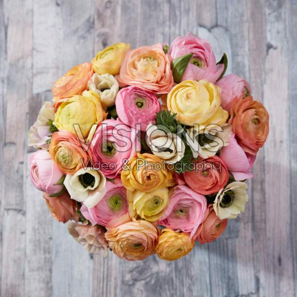 Ranunculus en Anemone pastel mix